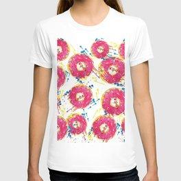 Donut kitty pattern T-shirt