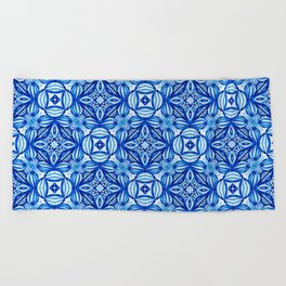 For the Love of Blue - Pattern 372 Beach Towel