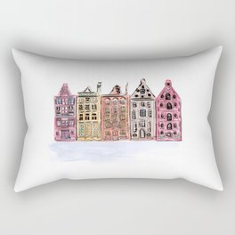 Coloured Houses Rectangular Pillow