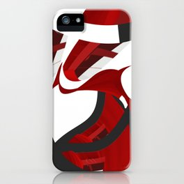 A red opening iPhone Case