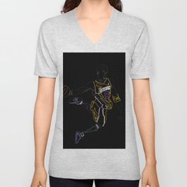 Neon Los Angles Basketball Legend Unisex V-Neck