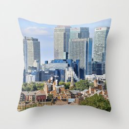 Canary Wharf is a commercial estate in London Throw Pillow