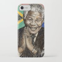 mandela iPhone & iPod Cases featuring MANDELA by Stan Kwong