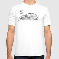 Built to Haul MEDIUM White Mens Fitted Tee