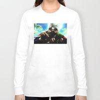 kakashi Long Sleeve T-shirts featuring Kakashi sensei by Shibuz4