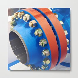 Ball valve for oil and gas industry Metal Print