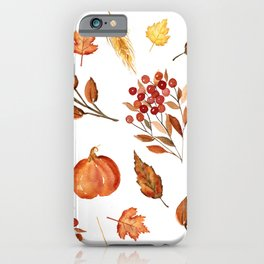 Wheat and Berries iPhone Case