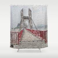 bridge Shower Curtains featuring Bridge by Mr and Mrs Quirynen