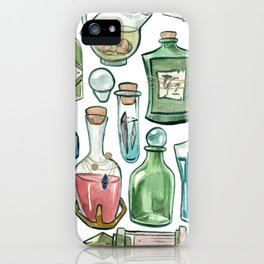 Watercolor Glass Potion Bottles iPhone Case