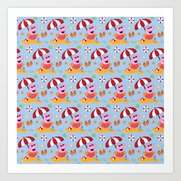 Peppa Pg Pattern 03 Art Print
