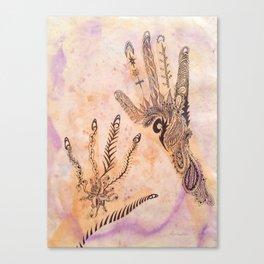 Henna Hands Canvas Print
