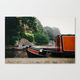 Moored Barge Canvas Print