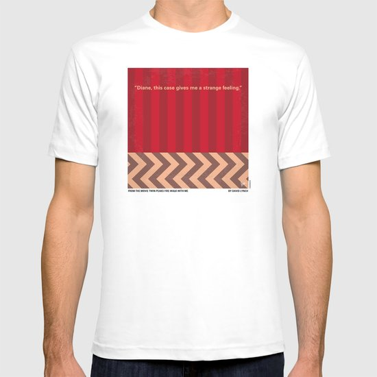 No169 My Twin Peaks minimal movie poster T-shirt
