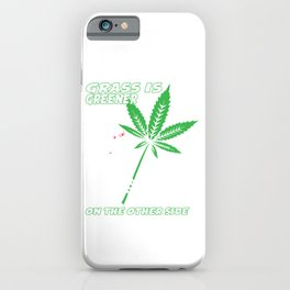 A Unique Detailed Zombie Tee For Yourself? T-shirt Saying Grass Is Greener On The Other Side Design iPhone Case
