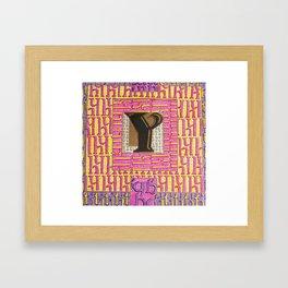 Alpha-Numero: Y Framed Art Print