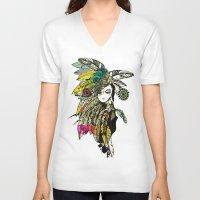 karu kara V-neck T-shirts featuring KARA by DON'T NEED NO SAMURAI