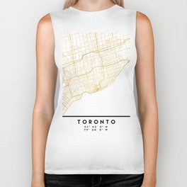 TORONTO CANADA CITY STREET MAP ART Biker Tank