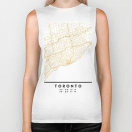 TORONTO CANADA CITY STREET MAP ART Biker Tank