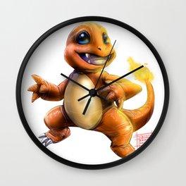Fire Lizard Wall Clock