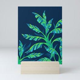 Paradise Leaves - Green Mini Art Print