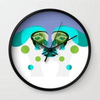 gemini Wall Clocks featuring Gemini by Akwaflorell