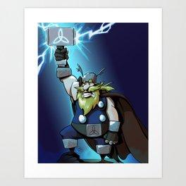 Thor God of Thunder Art Print