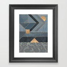 Nordic Blue Framed Art Print