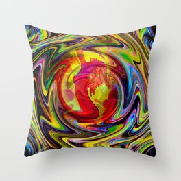 Abstract in perfection-fire  Throw Pillow