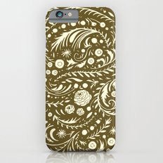 Bronze Flora Swirl Slim Case iPhone 6s