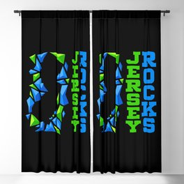 Jersey Rocks Blackout Curtain