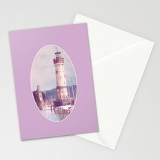 Lighthouse at Lindau, Lake of Constance Stationery Cards