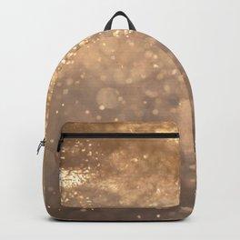 Modern Gold Sparkles Backpack