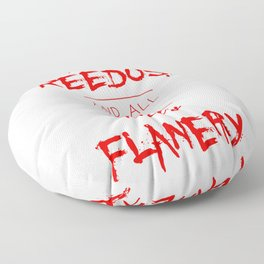 Jesus Reedus And All The Holy Flanery  - Red Floor Pillow