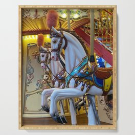 Vintage Carousel Horses Serving Tray