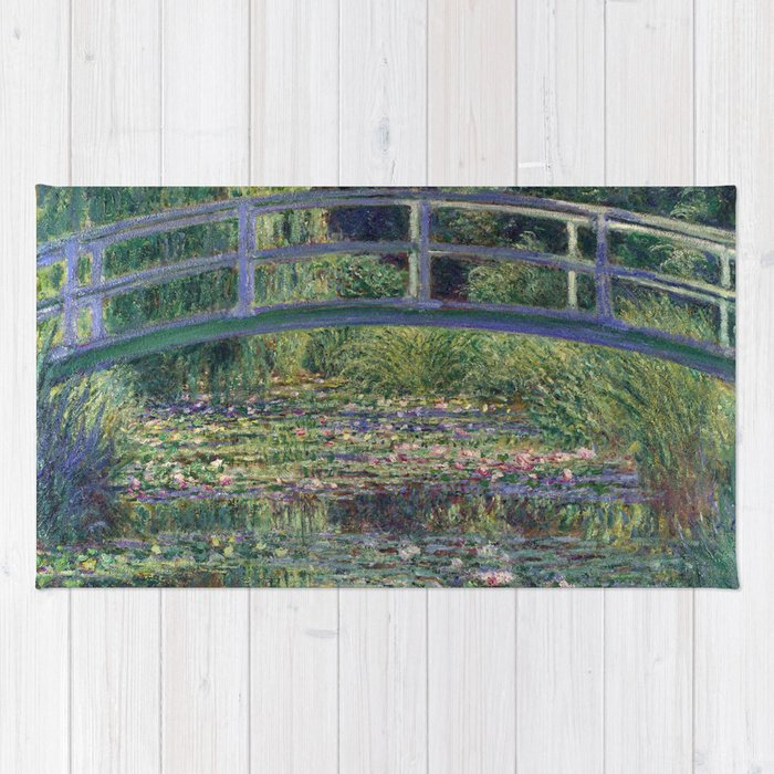 Water Lilies and the Japanese Bridge by Claude Monet Rug