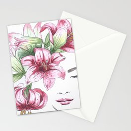 Lilium watercolor Stationery Cards
