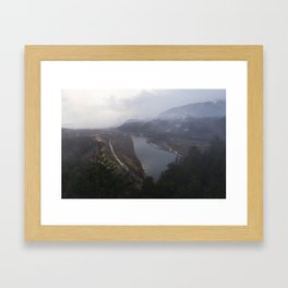 Storms over the Columbia River Gorge Framed Art Print