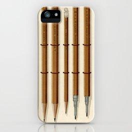 Antique Pencils iPhone Case