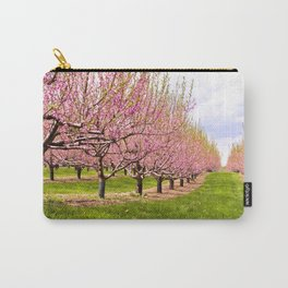 Pink Flowering Trees Carry-All Pouch