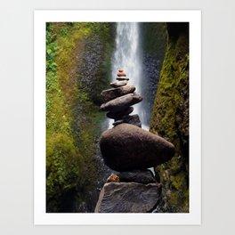 Stone Carin, Oneonta Falls, Oneonta Gorge, Oregon Art Print