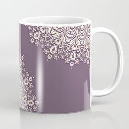 Asymmetric Mandalas on Mulberry Background Coffee Mug