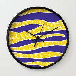 Yellow Tentacles Wall Clock