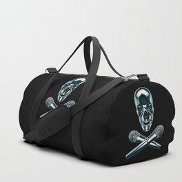 Pirate tunes / 3D render of skull and cross bones with microphones Duffle Bag