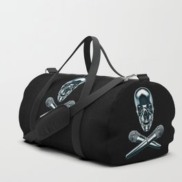 Pirate tunes / 3D render of skull and cross bones with microphones Duffle Bag