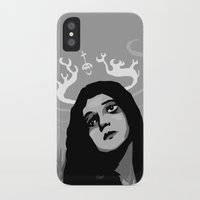 antler iPhone & iPod Cases featuring Annie Antler by Stephan Brusche