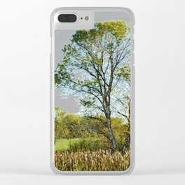 The glow of summer Clear iPhone Case