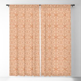 Victorian Pattern pink flowers Blackout Curtain