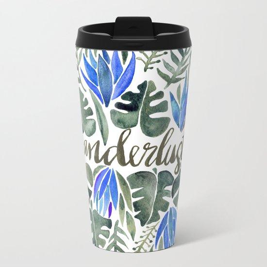 Tropical Wanderlust – Periwinkle Metal Travel Mug