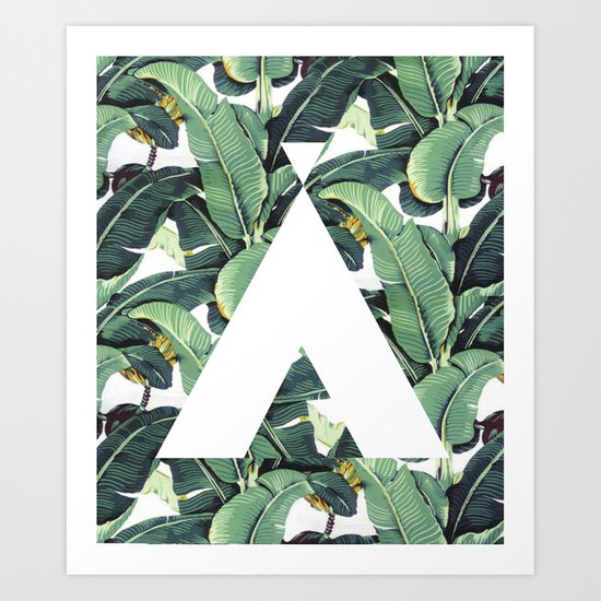 Banana Leaf Love Art Print