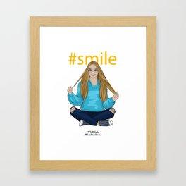 #smile Framed Art Print